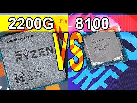 New AMD APU beats i3 CPU! -- AMD Ryzen 3 2200G vs Intel i3-8100