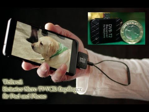 Free tv on Air the World best smallest Micro PVR Receiver on the go Handy Tablet