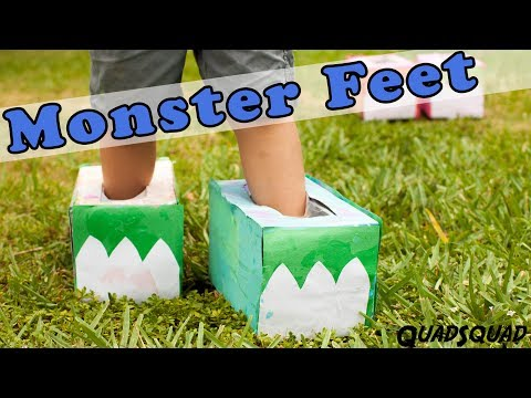 Monster Feet for Kids! - Craft Time with Ashley