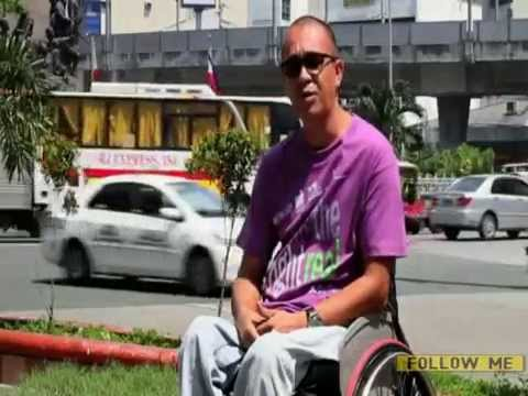 How difficult is it getting around Manila in a wheelchair