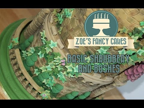 How to make shrubbery and bushes from icing for cakes How To Tutorial Zoes Fancy Cakes