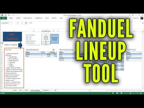 FanDuel Lineup Tool (FREE Access)