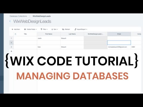 Managing and Editing Databases in Wix - Wix Code Tutorial 2018