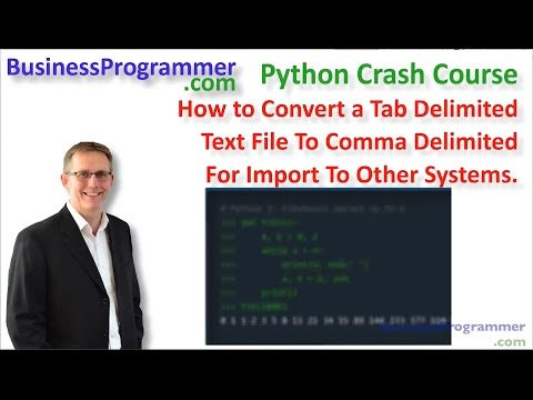 Convert tab delimited text file to csv using Python