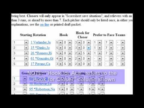 Scoresheet Fantasy Baseball: Lineup Strategies for Pitchers