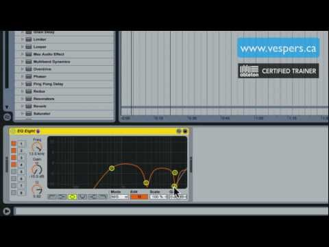 How to make acapellas in Ableton Live HD tutorial pt 1: mid side EQ Eight