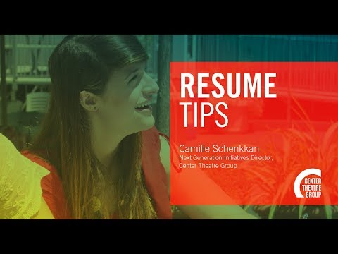 How to Apply for Jobs & Internships in the Arts: RESUMES
