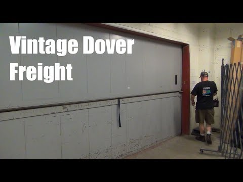 Awesome Vintage Dover Freight Hydraulic Elevator @ Rosedale Mall, Roseville, MN