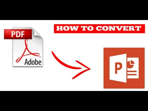How to convert PDF to PPT