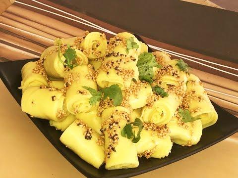 How to Make Khandvi Video Recipe | Chickpea Flour Rolls
