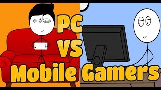 Pc Vs Mobile Gamers ! life of pc gamers ! life of mobile gamers