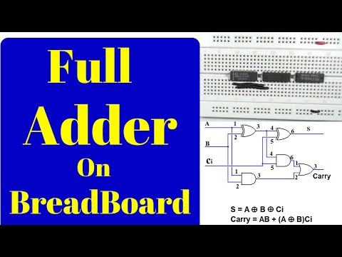 how to make a full adder on a breadboard,Step by Step