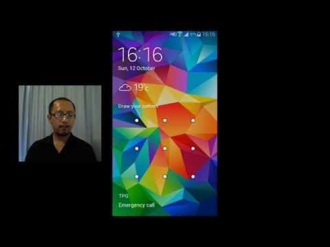 Samsung Galaxy S5 customization - set up lock screen