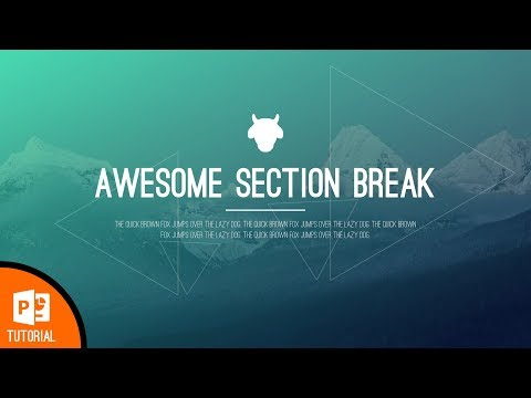 How to Design a Beautiful Section Break Slide in PowerPoint (ft. One Skill)