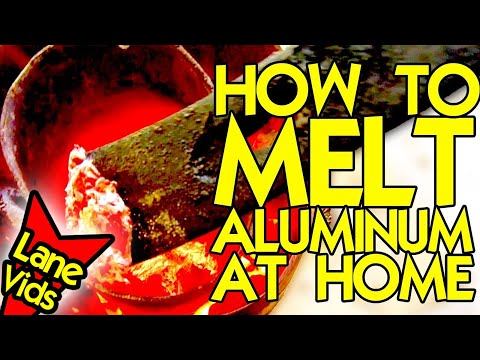 HOW TO MELT ALUMINUM CANS AT HOME | How to Make a Homemade Forge to Melt Aluminum | LaneVids Science