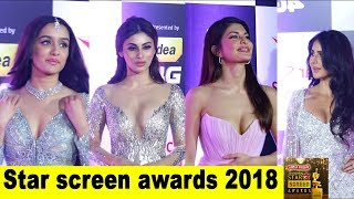 Full uncut video red carpet  star screen award 2018 With Many bollywood celebrities