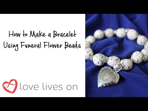 How to make a Bracelet using Funeral Flower Beads