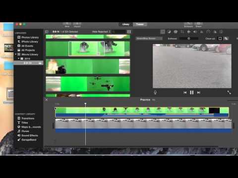 iMovie 2015 Tips Green Screen Effect