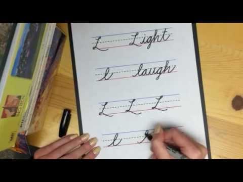 Learn Cursive Letter