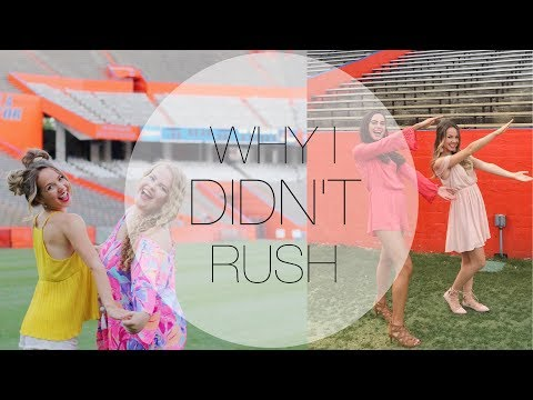 WHY I DIDN'T JOIN A SORORITY IN COLLEGE