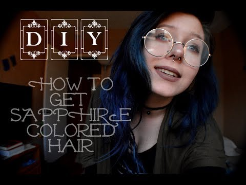DIY Sapphire Midnight Blue Hair Tutorial/ Arctic Fox Transylvania Review !!!!