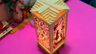 How to Make a Night Lamp with Popsicle Stick | DIY Night Lamp