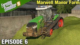 SILAGE MAKING Farming Simulator 19 Timelapse - Marwell Manor Farm