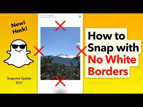 How to Post to Snapchat Story Without White Borders - iPhone
