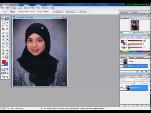 How to change background in Adobe Photoshop 7.0 in Urdu/Hindi