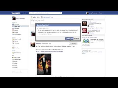 How to Delete Lists on Facebook
