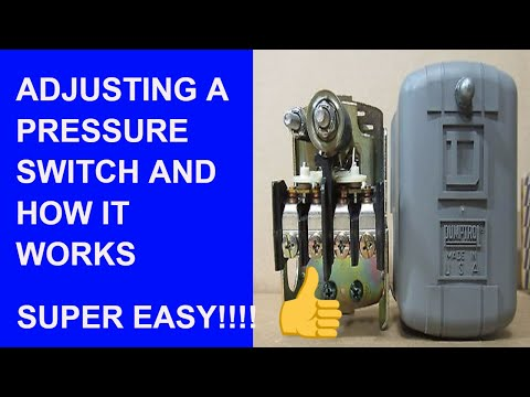 How to Adjust a Well Pump Pressure Switch and How it Works