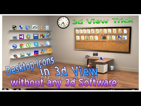 How to make your desktop into a 3d desktop without any 3d software -Tricks