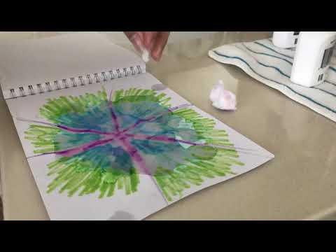 Random Tie Dye On Paper