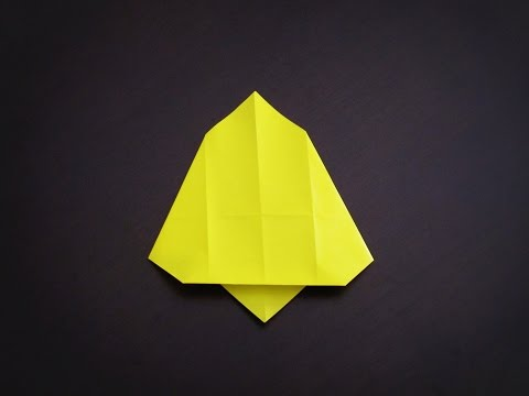 Origami - How to make a simple BELL (Christmas Decoration)
