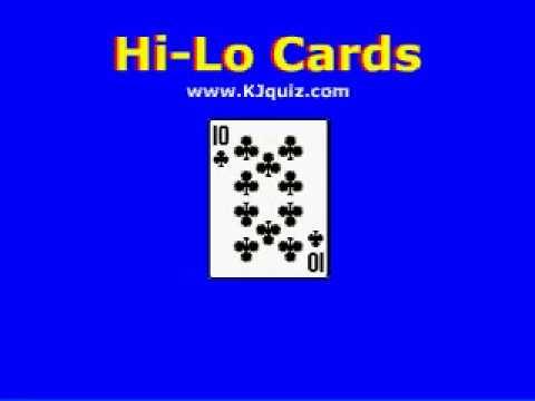 Cardsharks - HiLo Cards iPod Game www.kjquiz.com
