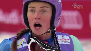 Linsey VONN crash Olympics 2018 Picked up by helicopter