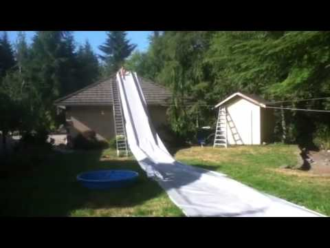 Epic redneck waterslide at the cousins house