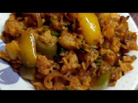Cauliflower dry curry recipe|Cauliflower dry recipe in tamil|Cauliflower dry recipe for chapathi