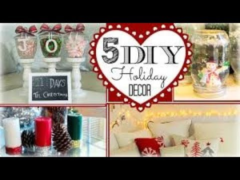 DIY Holiday Decorations on a Budget! 2017 ❄️ Easy and Cheap DIY  Winter Decor 2017