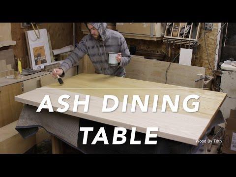 Breakfast Nook Table In Solid Ash