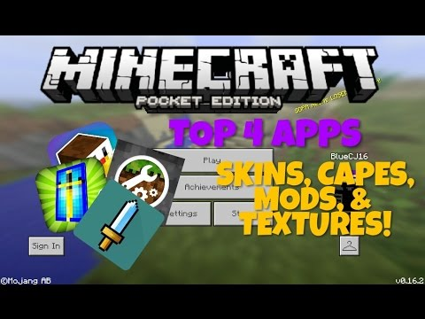 CREATE SKINS/CAPES/MODS/TEXTURES for MCPE ! My Top 4 Apps