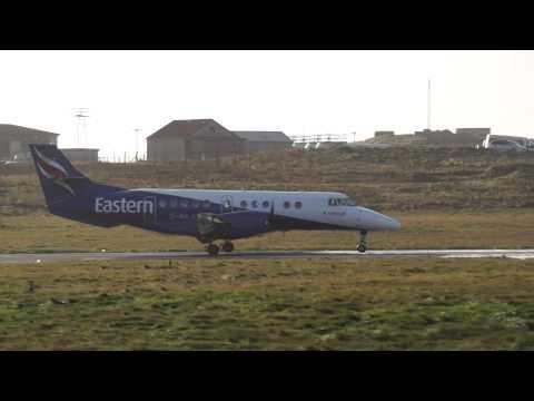 Eastern Airways British Aerospace Jetstream 4100. Landing Sumburgh Airport, Shetland