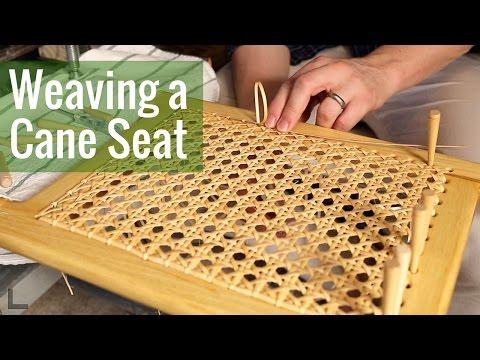 Weaving a Cane Seat (Ep 16 - Cedar Strip Canoe Build)