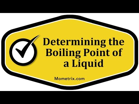 Determining the Boiling Point of a Liquid