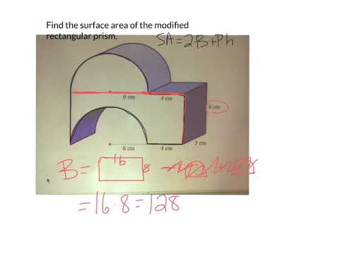 Surface area of a modified rectangular prism