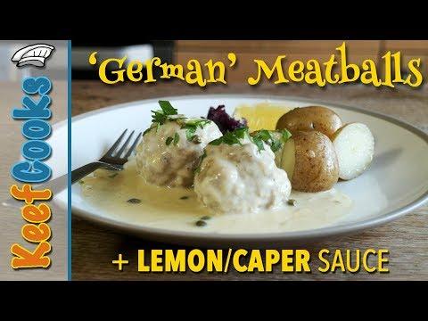 German Meatballs | Konigsberger Klopse | With Lemon Caper Sauce