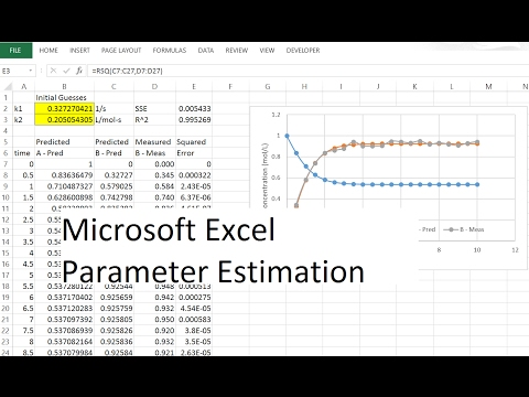 Dynamic Parameter Estimation with Excel