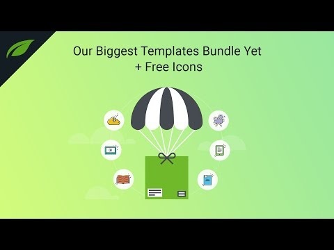 Our Biggest Templates Bundle Yet + Free Icons Set
