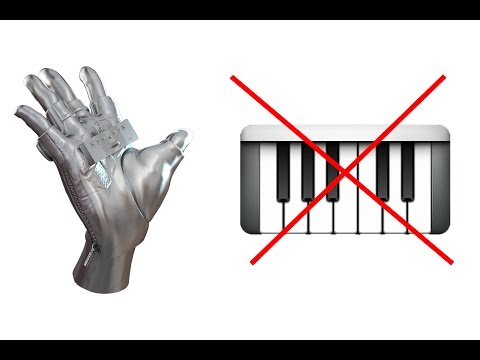 Cool MIDI glove as a MIDI keyboard. Tornado A1 MIDI Controller