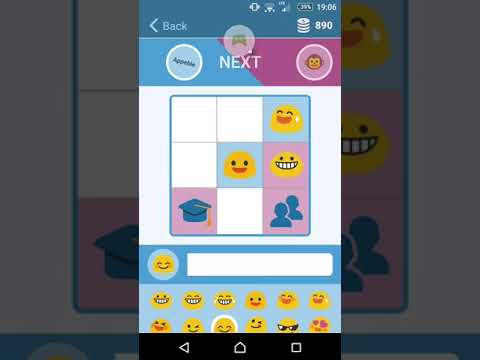 Gameplay Emoji-Fun on Android: Appeble vs Monkey (our AI)   A Fun Emoji Chat Game